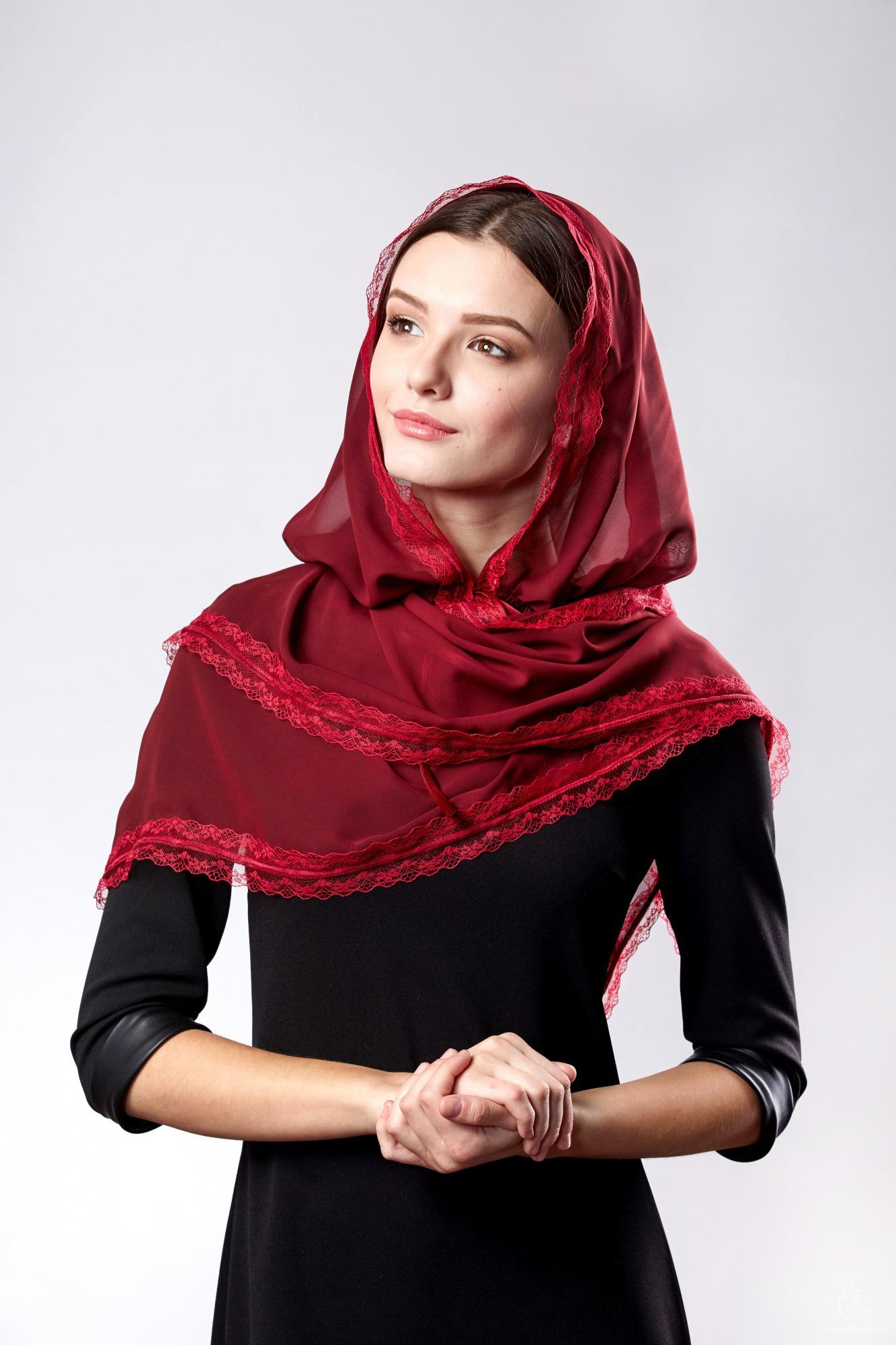Как сшить донской платок для храма фото 551